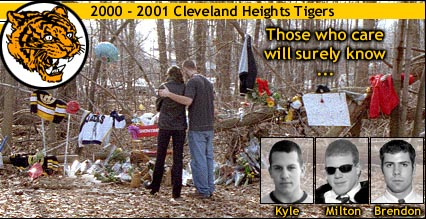 Memorial for Kyle, Milton and Brendon